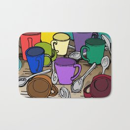 Cups and Spoons Bath Mat