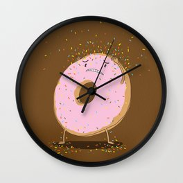 Itchy Donut Wall Clock
