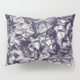 Indigo butterfly photograph duo tone blue and cream Pillow Sham