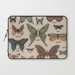 Butterflies and Moth Specimens Laptop Sleeve