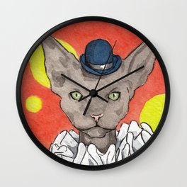 Circus Cat Wall Clock