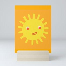 Smiley Sun Mini Art Print