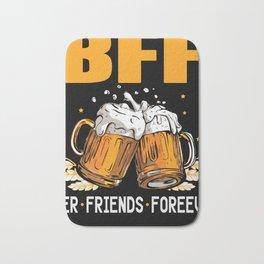 Beer friends bachelorette party groom Bath Mat