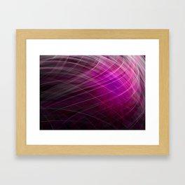 Linear Pattern-Purple Framed Art Print