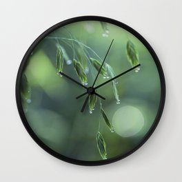 dew drop morning Wall Clock