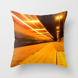 Train from Ulm Throw Pillow
