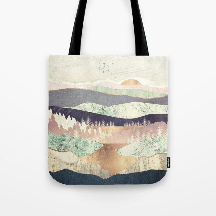 Golden Spring Reflection Tote Bag