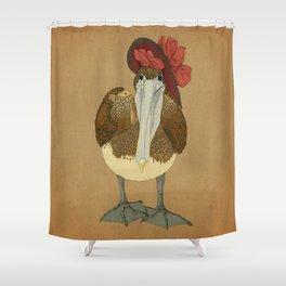 Plumpkin Ploshkin Pelican Jill Shower Curtain