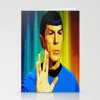 spock Stationery Cards featuring Spock by The Art Of Gem Starr