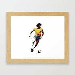 Socrates, Brazilian soccer superman Framed Art Print