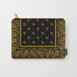 Classic Black and Gold Bandana Carry-All Pouch