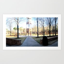 Clock Tower on Campus Art Print