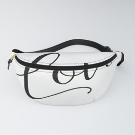 Love in black and white Fanny Pack