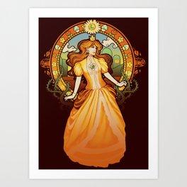 Daisy Nouveau Art Print