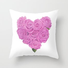 i heart roses Throw Pillow