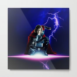 Thor God Of Thunder Metal Print