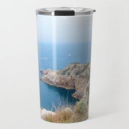 Summer landscapes around Costa Brava, impressive cliffs and coastlines. Travel Mug
