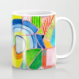 Happy Pattern with two Half Circles and one single Flower Coffee Mug