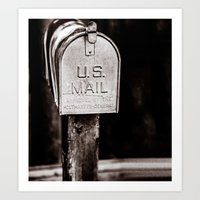 Who does US mail Art Print