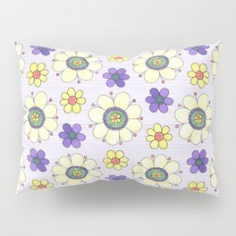 Crazy Daisies Pillow Sham