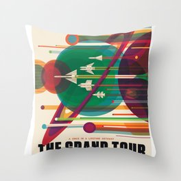 NASA Visions of the Future - The Grand Tour, a Once in a Lifetime Getaway Throw Pillow