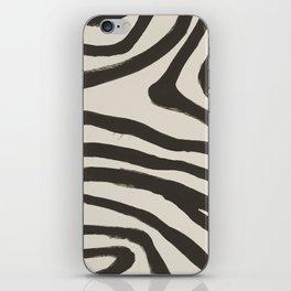 Painted Zebra iPhone Skin