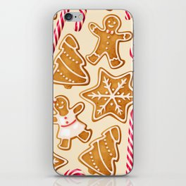 Gingerbread Cookies & Candy Canes iPhone Skin