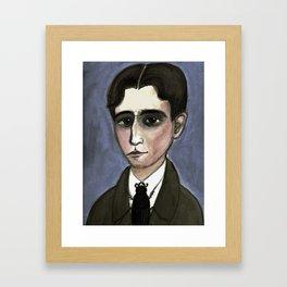 The Metamorphosis of Kafka, Literary Portrait Framed Art Print