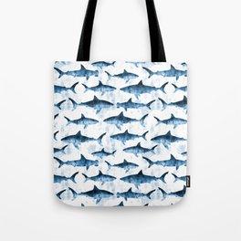 sharks - blue Tote Bag