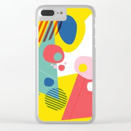 Abstract Pop III Clear iPhone Case