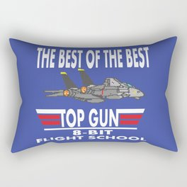 8-Bit Flight School Rectangular Pillow