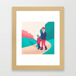 The walk home Framed Art Print