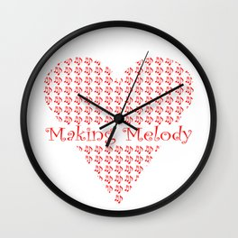 Making Melody in My Heart Wall Clock