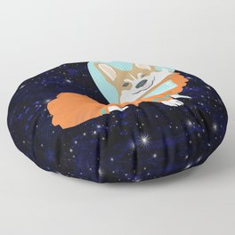 Corgi spacedog astronaut outer space red corgis dog portrait gifts Floor Pillow