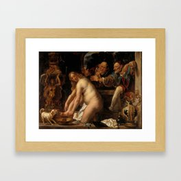 "Jacob Jordaens ""Susanna and the Elders"" Framed Art Print"