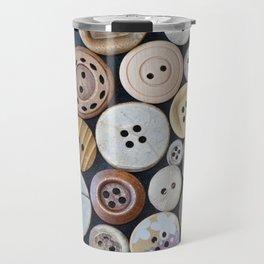 Wooden Buttons Travel Mug