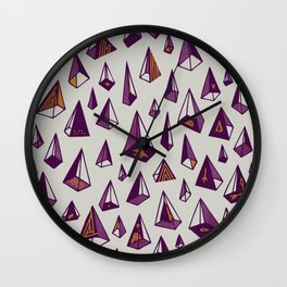 Triangles are my favorite shape Wall Clock