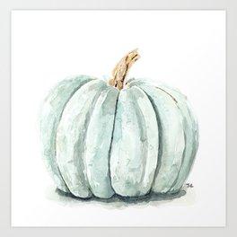 Blue Pumpkin Art Print