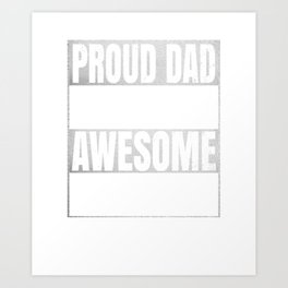 Proud Dad Of An Awesome Accountant Gift - Funny Accounting product Art Print