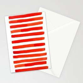 red stripe Stationery Cards