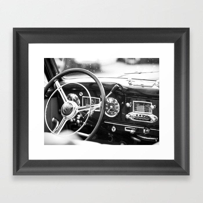 Classic Car Interior Gerahmter Kunstdruck