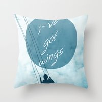 wings Throw Pillows featuring Wings by AA Morgenstern