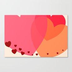 Heart love Canvas Print