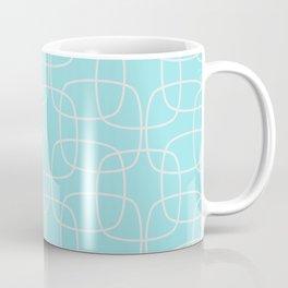 Square Pattern Mint Coffee Mug