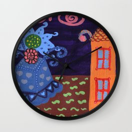 jack in the box flower Wall Clock