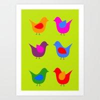 scandinavian Art Prints featuring Scandinavian Birds by The Red Umbrella 5