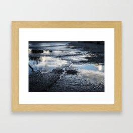 Asphalt Faults Framed Art Print