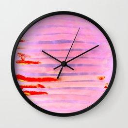 Pink Lava Lines Wall Clock