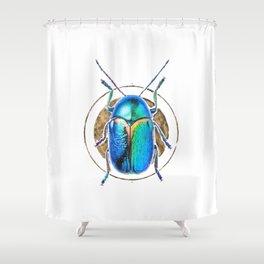 Scarab Beetle Shower Curtain