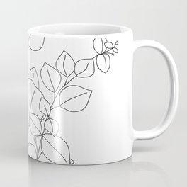 Minimalistic Eucalyptus  Line Art Coffee Mug